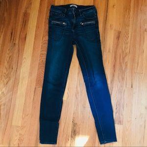Hollister Mid Rise Dark Wash Stretch Skinny Jeans
